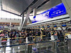 マニラ空港第3ターミナル、受付カウンター