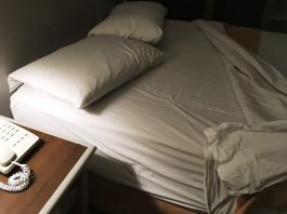マニラのホテル ベッドルーム