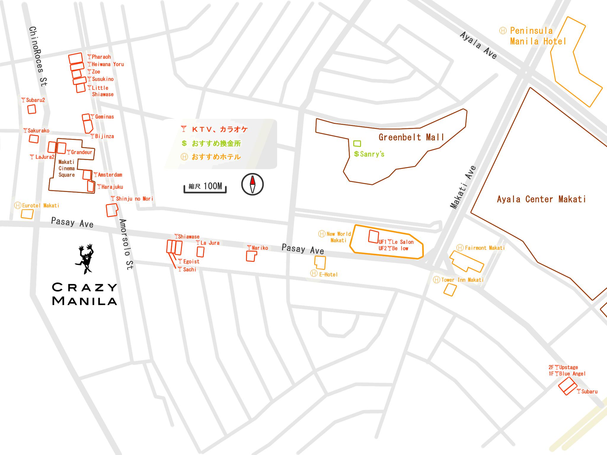 マニラ夜遊びマップ KTV Map
