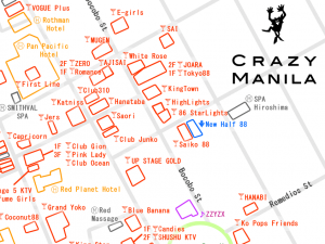 夜遊びマップ マニラのマラテエリア