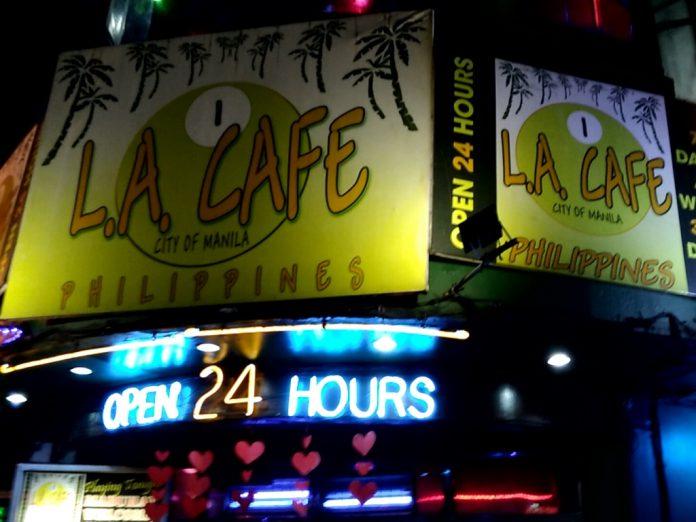 フィリピン 夜遊び マニラ LAカフェ