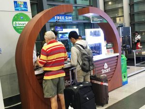 マニラ空港 第3ターミナル 到着 おすすめ通信キャリアショップ