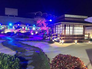 フィリピンアリーナ 日本庭園 夜間ライトアップ