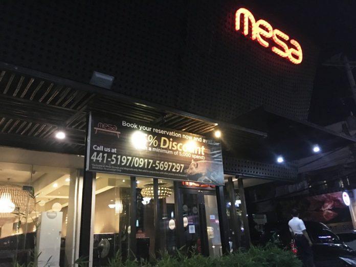 フィリピン レストラン ディナーデート