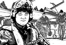 レンジ 戦闘機に乗る