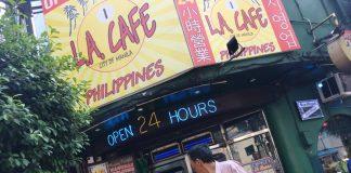 LAカフェのエントランス