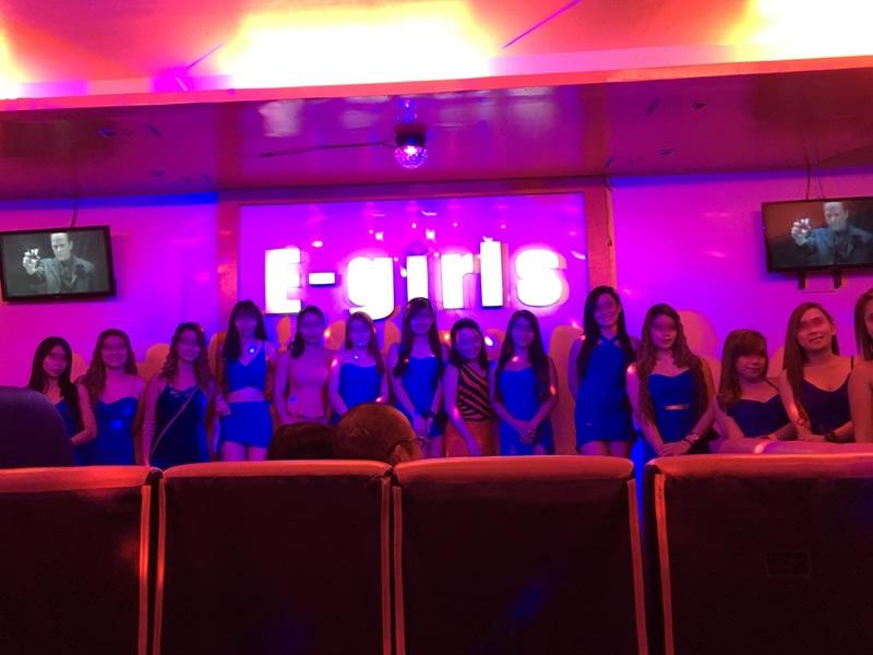マニラKTV 夜遊び「E-girls」 女性ショーアップ