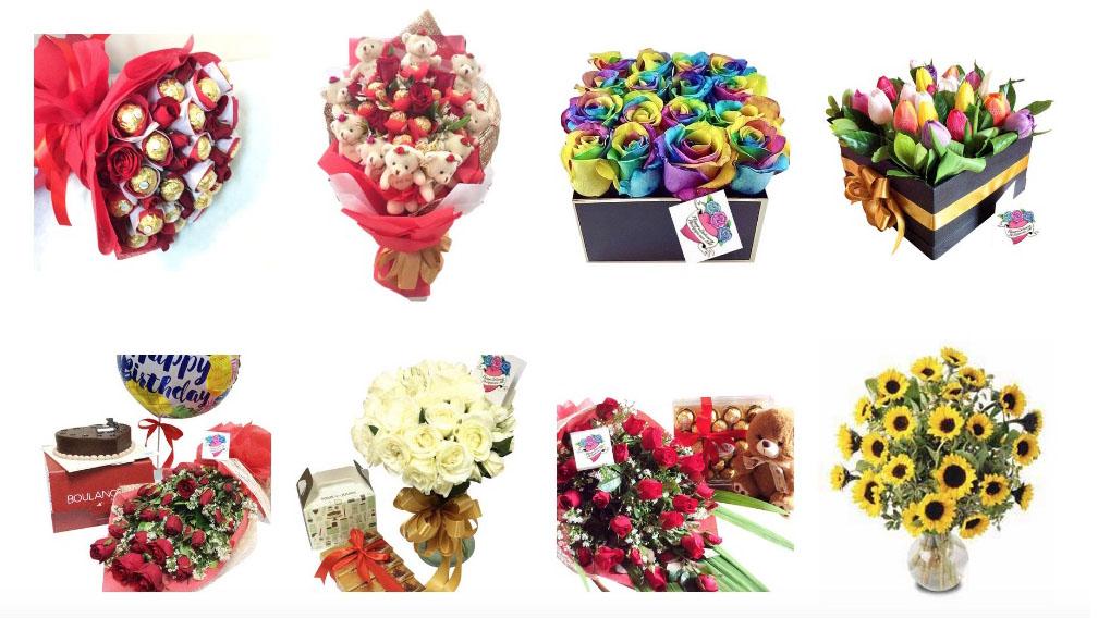 フィリピン フラワーデリバリーサービス 花束の種類