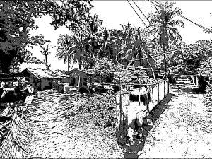 フィリピンの漁村
