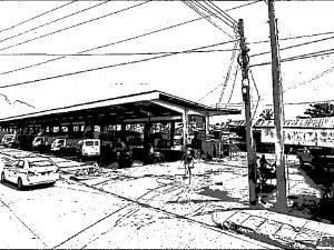ミンダナオ島 マーケット 幹線道路近く