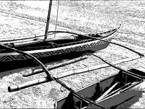 フィリピンのカヌー 漁業 釣り