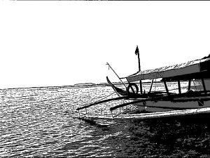 フィリピンの海 船