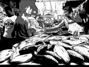 フィリピンの魚市場