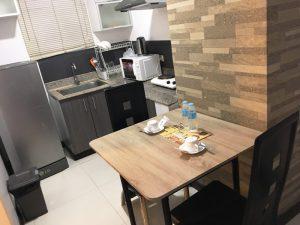 ホテルの簡易キッチンスペース