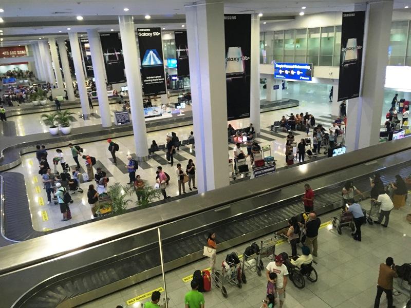 エアアジアの発着はマニラ空港の第三ターミナル