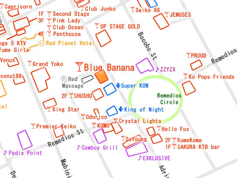 ブルーバナナ 周辺マップ
