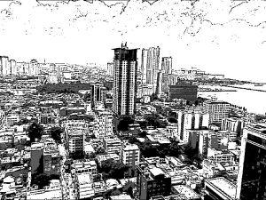 フィリピン マニラの街の絵