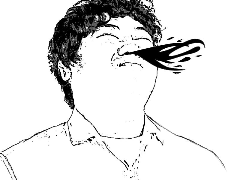 日本人男性 鼻血 噴き出る