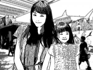 フィリピーナ彼女とその娘