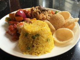 マニラのおすすめレストラン 中華料理屋 ランチプレート