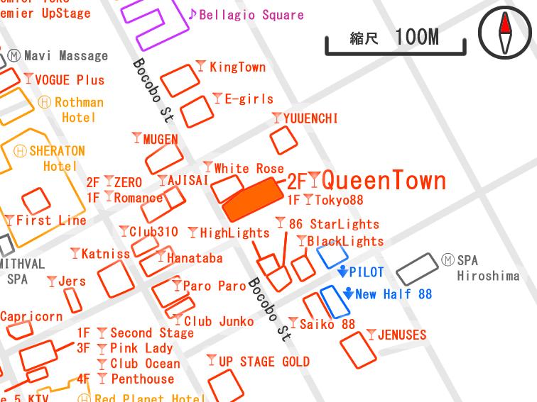 クイーンタウン周辺の夜遊びマップ マニラ マラテエリア