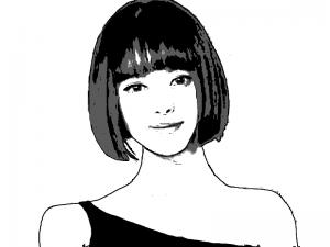 KTVフィリピーナ女性 似顔絵
