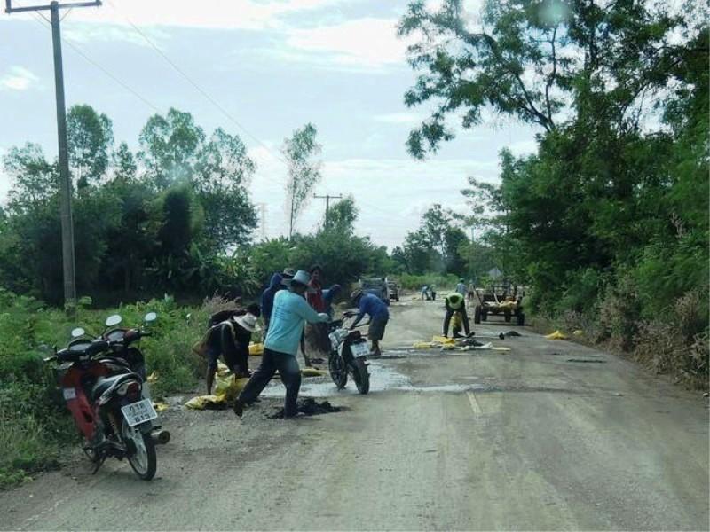 フィリピン 道路舗装 工事